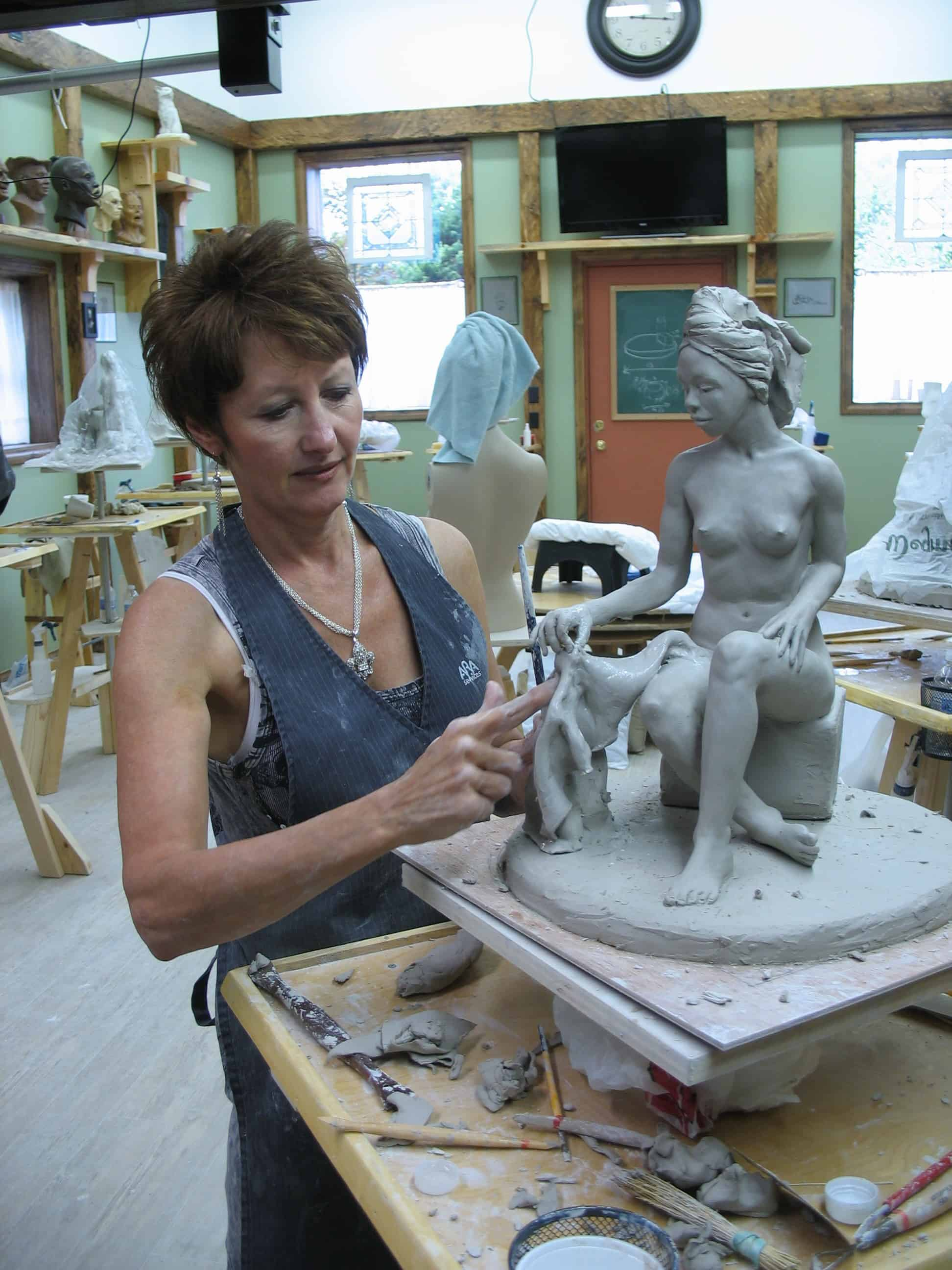 Artist Terri Meyer, Sculpting