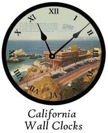 California Wall Clocks by Ohio Artist Terri Meyer