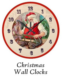 Christmas Wall Clocks by Ohio Artist Terri Meyer