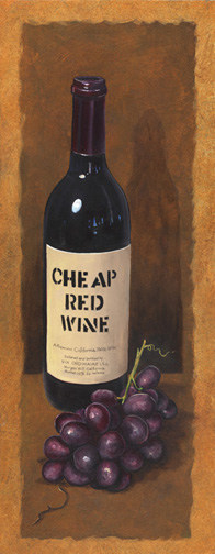 Cheap Red Wine Painting By Ohio Artist Terri Meyer