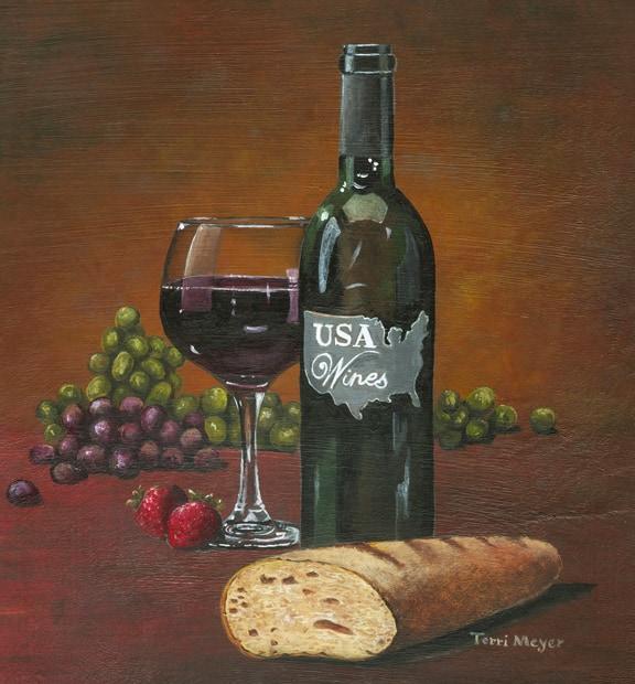 Wine Painting, Decorative Painting