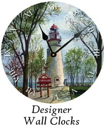 Designer wall clocks by Ohio Artist Terri Meyer