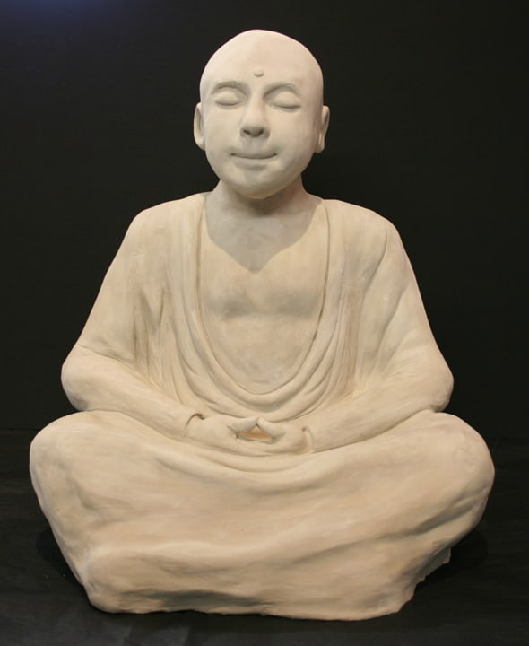 Sculpture of a Monk by Ohio Artist Terri Meyer