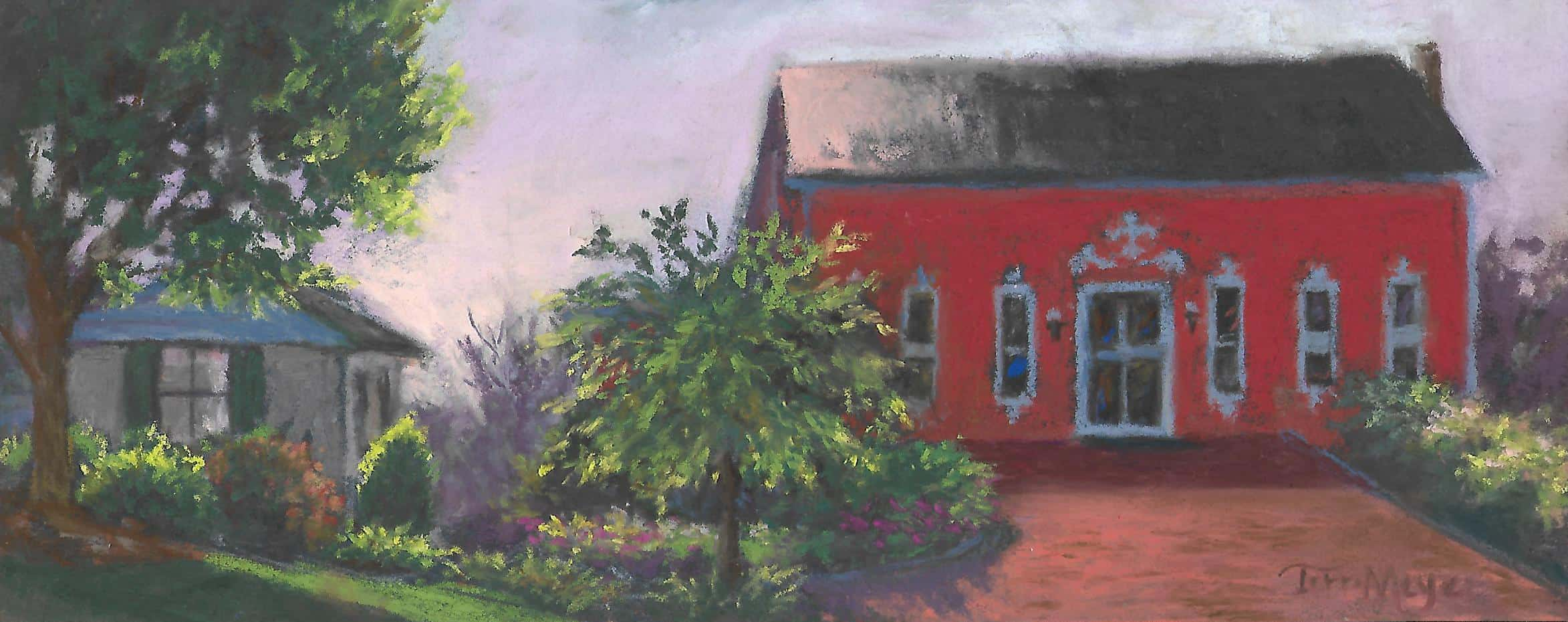 The Creative Chateau Barn - Plein Air Painting by Ohio Artist Terri Meyer