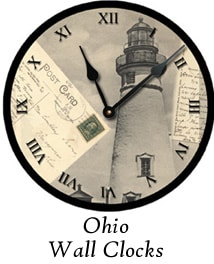 Ohio Wall Clocks by Artist Terri Meyer