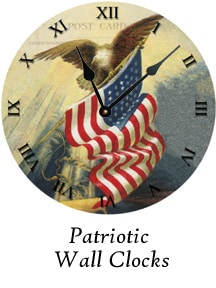 Patriotic Wall Clocks by Ohio Artist Terri Meyer