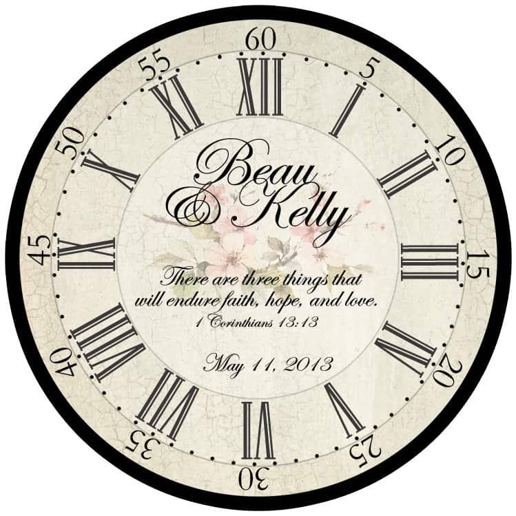 Customize this Wedding Clock