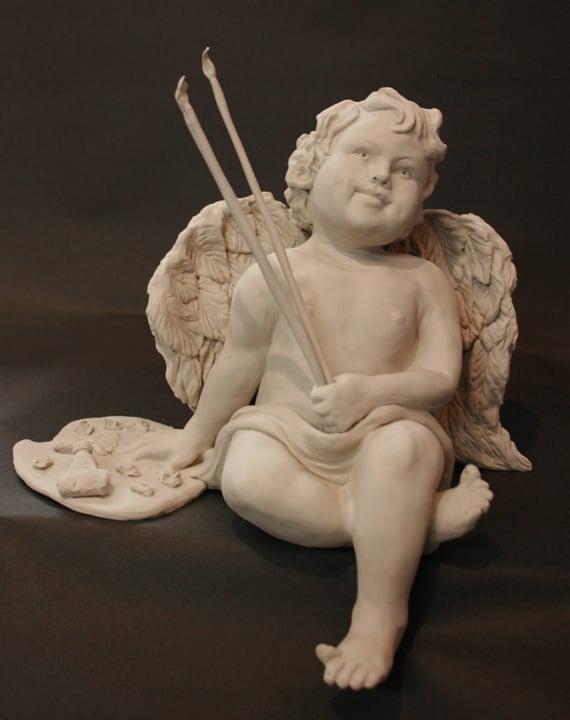Sculpture of an Angel by Ohio Artist Terri Meyer