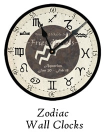 Zodiac Wall Clocks by Ohio Artist Terri Meyer
