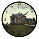Ohio Postcard Clocks - FE Myer House Ashland Ohio