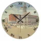 Ohio Postcard Clocks - Canton Ohio Public Square