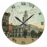 Ohio Postcard Clocks - Stark County Court House Canton Ohio