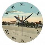 California Postcard Clock - San Diego - Santa Fe RR Depot