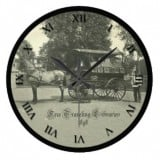 Vintage Traveling Library Postcard Clock