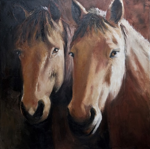 Horse Portrait Painting, Horse Painting, Animal Painting by Ohio Artist Terri Meyer
