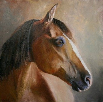 Horse Portrait Painting, Animal Painting, Horse Painting, Horse Portrait Painting, Equestrian Art