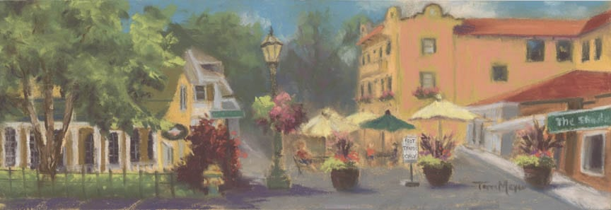 Painting of Downtown Lakeside, Ohio by Artist Terri Meyer