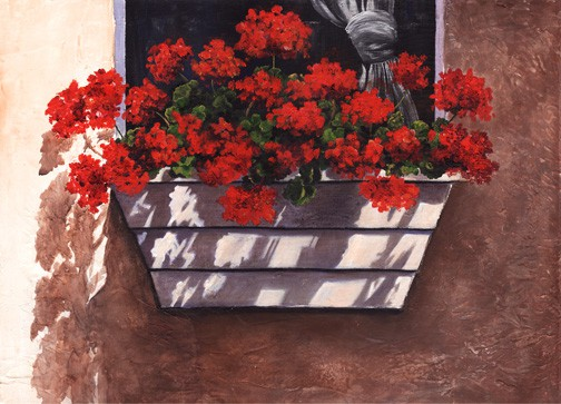 Floral Painting, Geranium Painting
