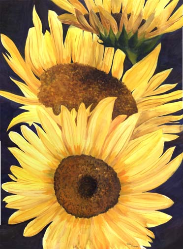 Floral Painting - Sunflowers by Ohio Artist Terri Meyer