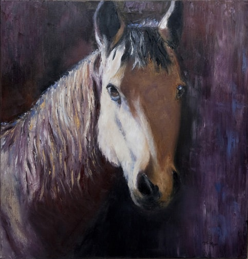 Horse Painting, Horse Portrait Painting, Animal Painting