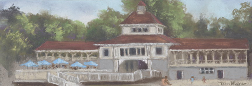 The Pavilion at Lakeside, Ohio - Plein Air Painting by Ohio Artist Terri Meyer