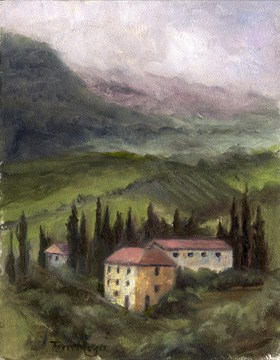 Decorative Painting, Tuscan Landscape Painting by Ohio Artist Terri Meyer