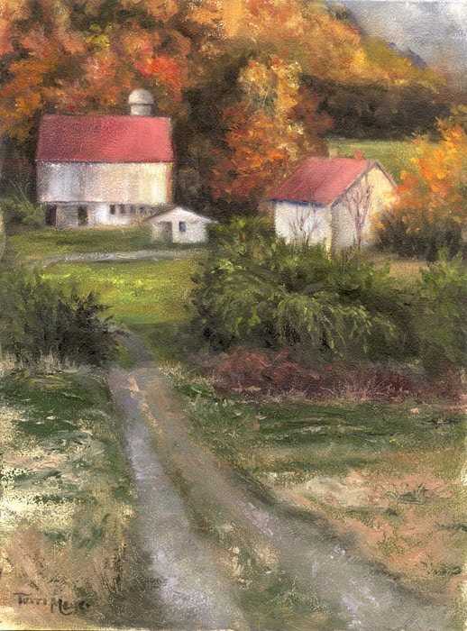 Decorative Painting, Rural Landscape Painting by Ohio Artist Terri Meyer