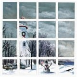 In the Holiday Spirit at Marblehead - Ohio Lighthouse Paintings - Lighthouse Paintings