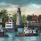 Ohio Lighthouse Paintings - The Guiding Lights of Ohio - Lighthouse Paintings