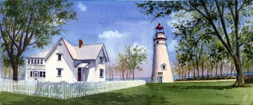 Lighthouse Painting, Marblehead Lighthouse