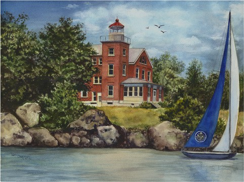 Lighthouse Painting, Put in Bay Lighthouse Painting