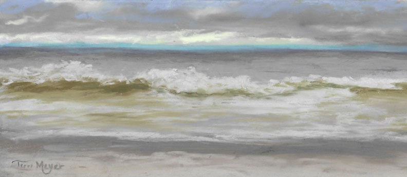 Windy Hill Beach, Myrtle Beach, SC - Plein Air Painting by Ohio Artist Terri Meyer