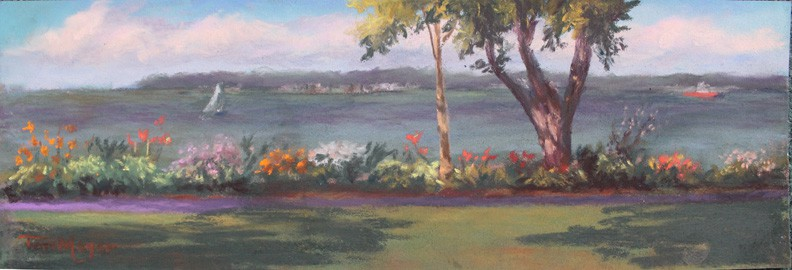 Ohio Most Beautiful Mile, Lakeside, Ohio - Painting by Artist Terri Meyer