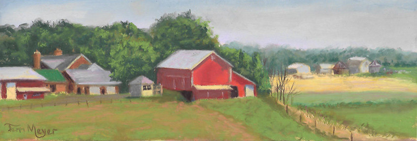 Ohio Farm Landscape Painting by Artist Terri Meyer