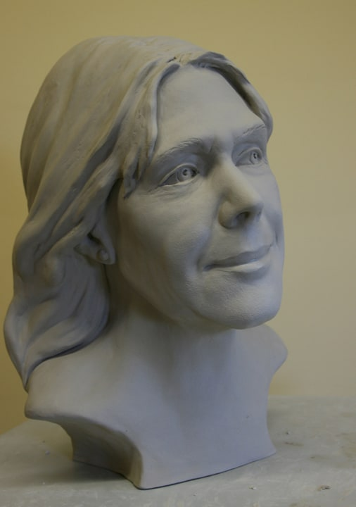 Portrait Sculpture of Carol by Ohio Artist Terri Meyer