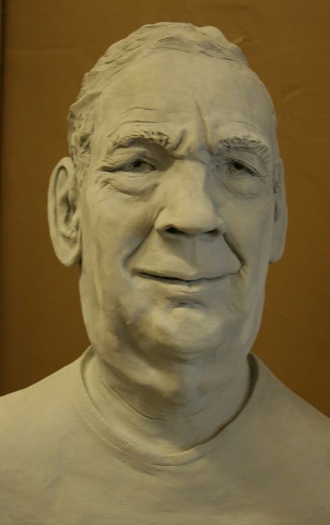 Portrait Sculpture of John J 2 by Ohio Artist Terri Meyer