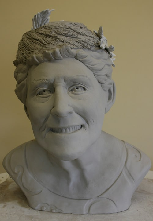 Portrait Sculpture of Virginia by Ohio Artist Terri Meyer