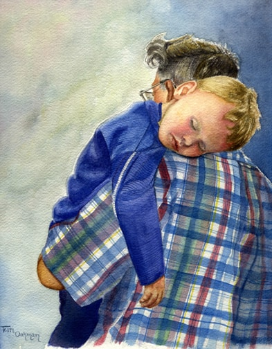 portrait paintings, portrait paintings of children, watercolor portraits
