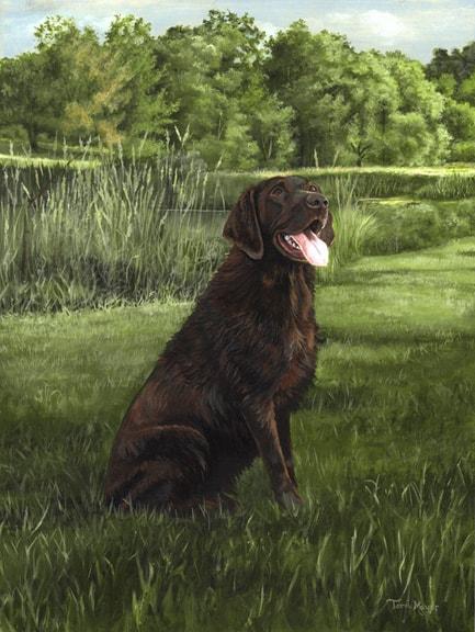 Dog Painting by Ohio Artist Terri Meyer