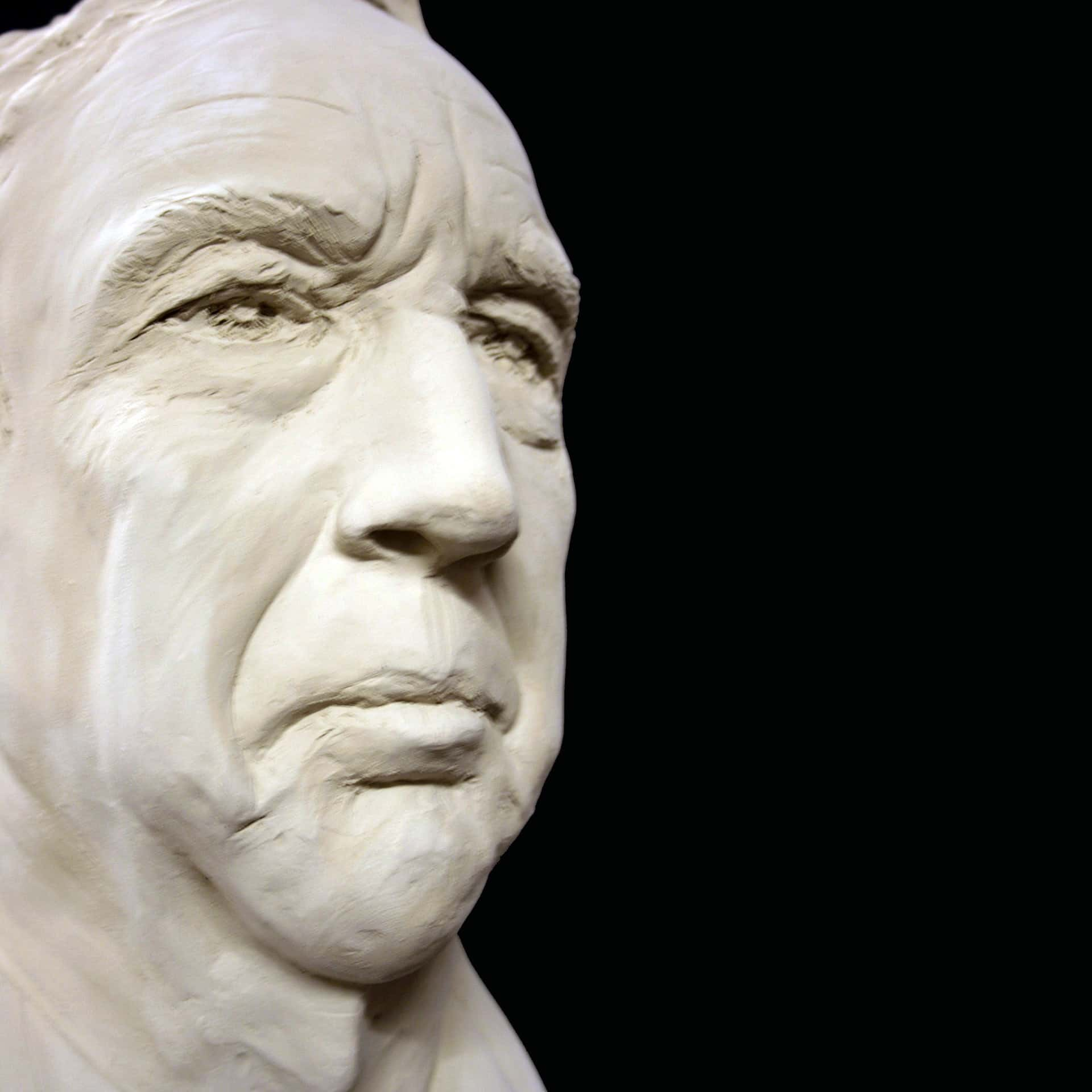 Portrait sculpture of John J by Ohio Artist Terri Meyer