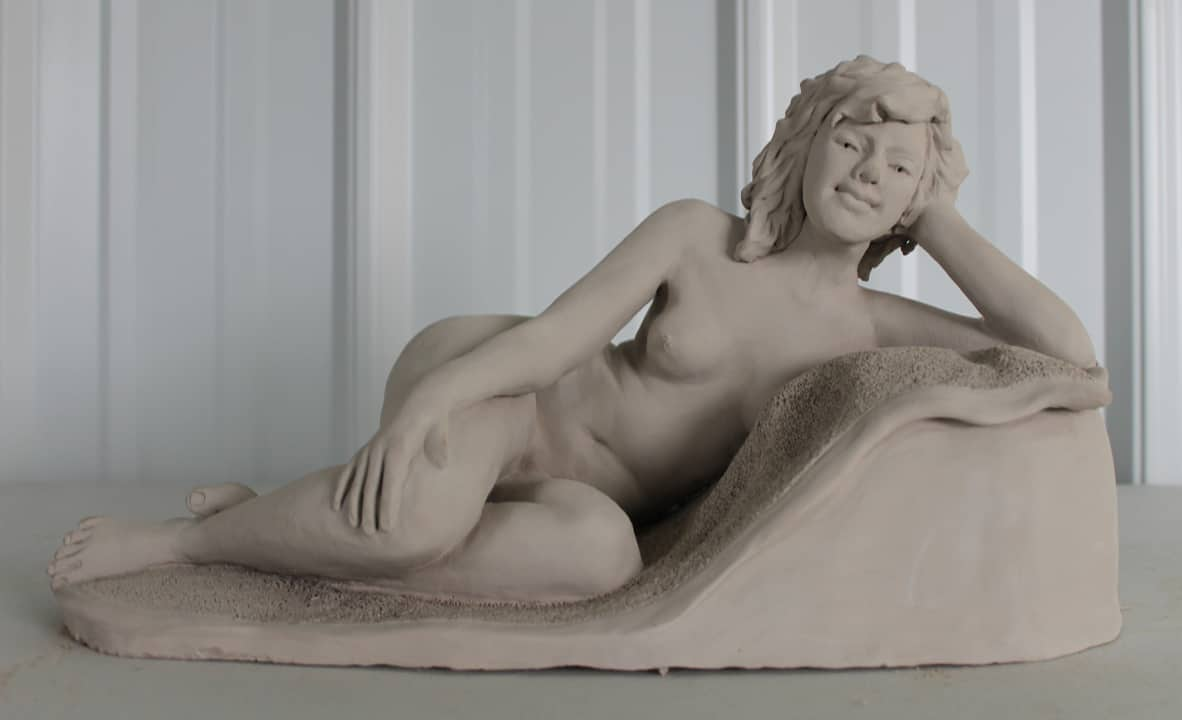 Reclining nude - front view by Ohio Artist Terri Meyer