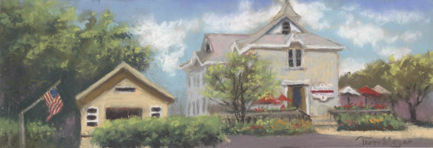 Rocky Point Winery,Marblehead Ohio - Plein Air Painting by Ohio Artist Terri Meyer, Plein Air Landscape Painting