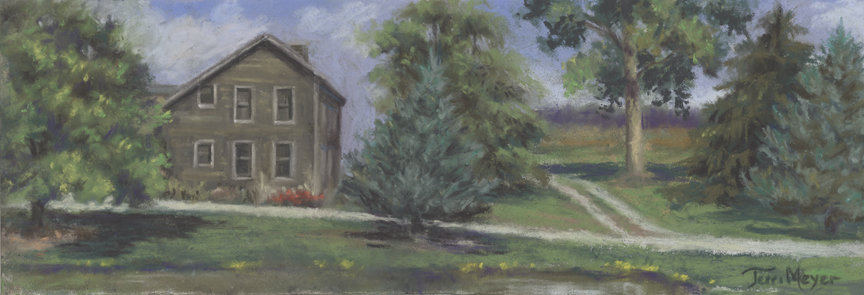 Farm Painting by Ohio Artist Terri Meyer, Plein Air Landscape Paintings