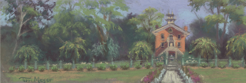 Vermillion Institute Hayesville Ohio - Plein Air Painting by Ohio Artist Terri Meyer, Plein Air Landscape Painting