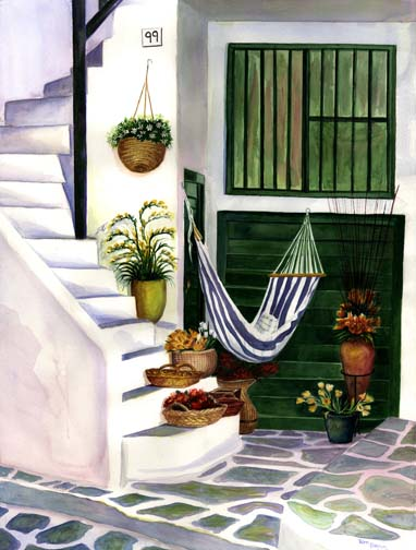 Floral Painting, Decorative Painting, Hammock Painting