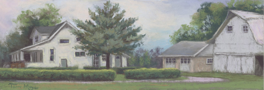 Paintings of Houses, Landscape Painting, Rural Landscape Painting