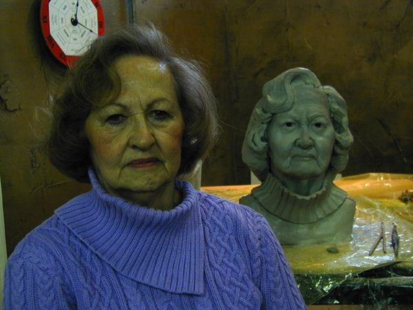 Sculpture of Arlene