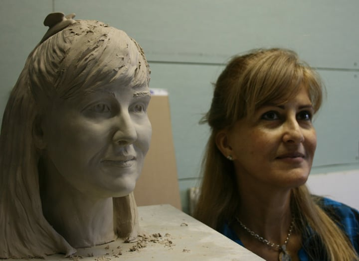 Portrait Sculpture of Cristina by Ohio Artist Terri Meyer