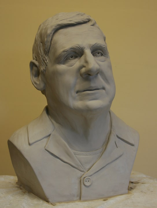 portrait sculpture of Dave by Ohio Artist Terri Meyer