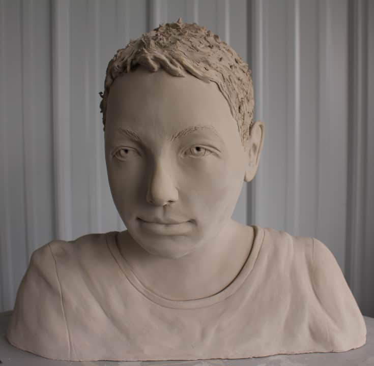 Portrait Sculpture of a young boy